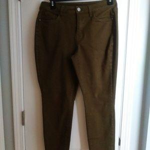 Lane Bryant 14 jeans green skinny stretch